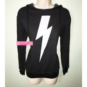 WF Oversize Hoody Lightning Bolt Hoodie Sweatshirt